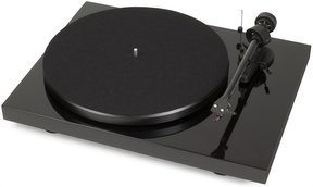 Debut Carbon Phono USB Turntable With Ortofon OM10 Cartridge (Gloss Black)
