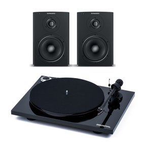 Essential III Turntable with OM 10 Cartridge with Dynaudio Xeo 2 Wireless Bookshelf Speakers - Pair