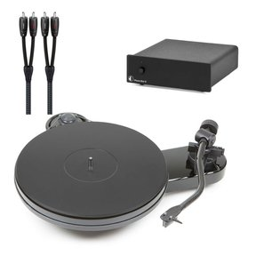 RPM 1.3 Manual Turntable with Phono Box S Phono Preamp and AudioQuest 1m RCA to RCA Cable