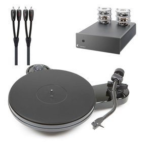 RPM 1.3 Manual Turntable with Tube Box S Phono Preamplifier and AudioQuest 1m RCA to RCA Cable