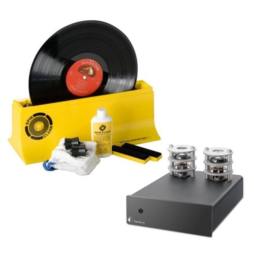 View Larger Image of Tube Box S Phono Preamplifier with Spin-Clean MKII Record Washer Starter Kit