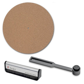 Vinyl Quality Maintenance Kit with Brush It Carbon Fiber Record Brush, Cork It Turntable Mat, and Clean It Stylus Brush