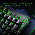 View Larger Image of BlackWidow Elite Wired Gaming Mechanical Keyboard with RGB Back Lighting (Green/Clicky switches)