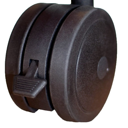 View Larger Image of Archetype Dual Wheel Casters - Set of 4 (Black)