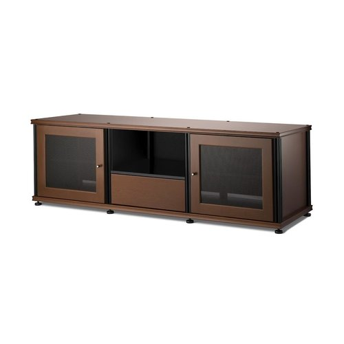 View Larger Image of Synergy 236 AV Cabinet with 2 Doors & Media Drawer (Cherry & Black)