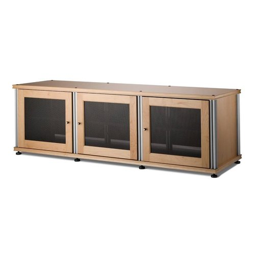 View Larger Image of Synergy 237 Triple Wide A/V Cabinet (Maple & Aluminum)