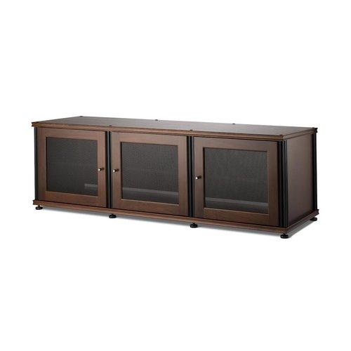 View Larger Image of Synergy 237 Triple Wide A/V Cabinet (Walnut & Black)