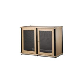 Synergy 323 Four Shelf AV Cabinet (Maple/Black)