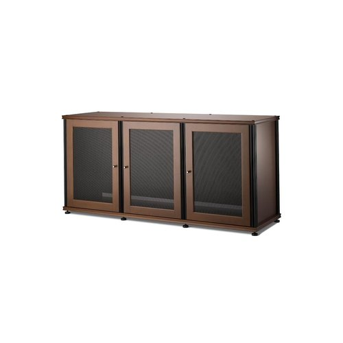 View Larger Image of Synergy 337 Triple Wide A/V Cabinet (Cherry & Black)