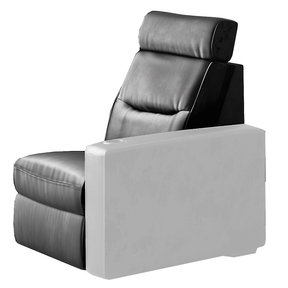 TC3 AV Basics Armless Chair Motorized Recliner Home Theater Seating (Black Bonded Leather)