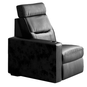 TC3 AV Basics Right-End Chair Motorized Recliner Home Theater Seating (Black Bonded Leather)