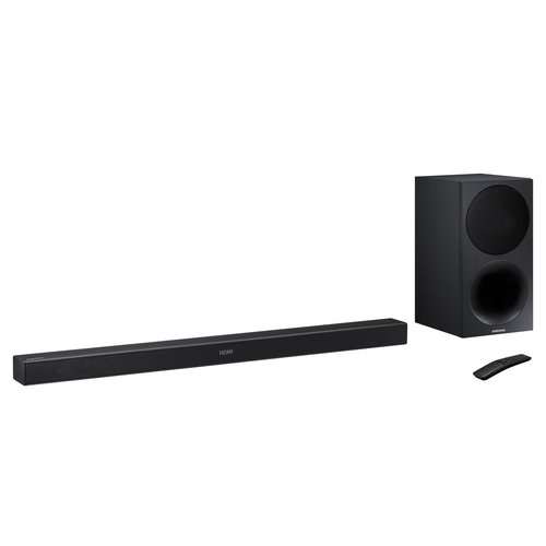 View Larger Image of HW-M450 320W 2.1 Channel Soundbar with Wireless Subwoofer (Black)