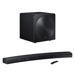 HW-MS6500 3 Channel Sound+ Curved Premium Soundbar with SWA-W700 Wireless Sound+ Subwoofer (Black)