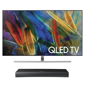 "QN75Q7F 75"" 4K UHD HDR QLED Smart TV with UBD-M9500 4K Ultra HD Blu-ray Player"