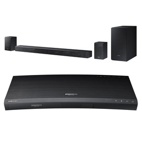 UBD-K8500 4K Ultra HD Blu-ray Player with Built-In Wi-Fi and HW-K950 5.1.4 Channel Soundbar with Dolby Atmos (Black)