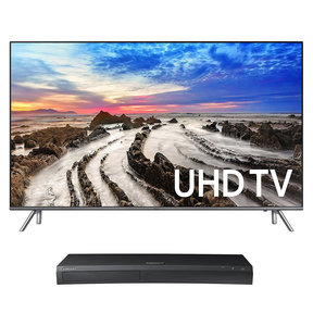 "UN49MU8000 49"" 4K UHD HDR Smart TV with UBD-M9500 4K Ultra HD Blu-ray Player"