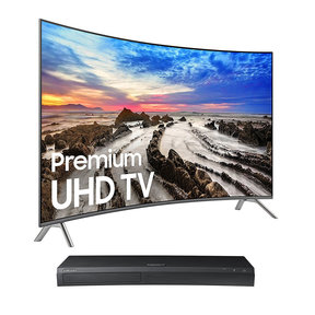 "UN55MU8500 55"" Curved 4K UHD Smart TV with UBD-M9500 4K Ultra HD Blu-ray Player"