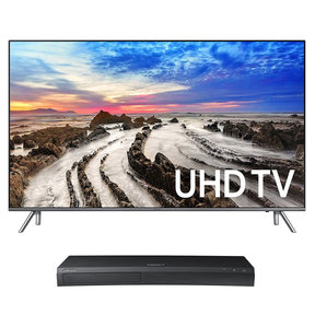 "UN75MU8000 75"" 4K UHD HDR Smart TV with UBD-M9500 4K Ultra HD Blu-ray Player"