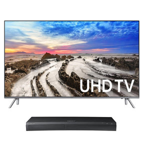 "UN82MU8000 82"" 4K UHD HDR Smart TV with UBD-M9500 4K Ultra HD Blu-ray Player"
