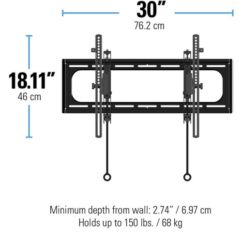 """View Larger Image of Advanced Tilt Premium Wall Mount for 46"""" - 90"""" TVs"""