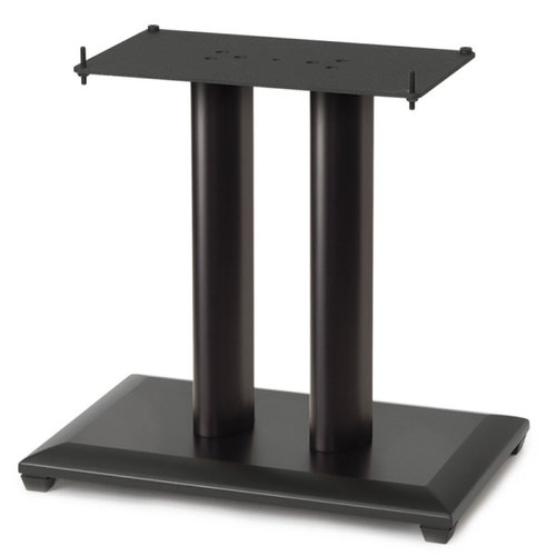 """View Larger Image of 18"""" Natural Series Wood Pillar Speaker Stand - Each (Black)"""