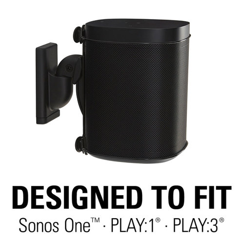 View Larger Image of Wireless Speaker Swivel and Tilt Wall Mount for Sonos ONE, PLAY:1, and PLAY:3 - Each