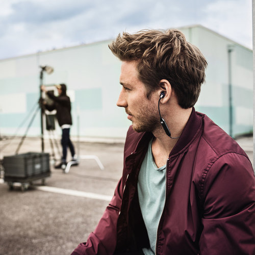 View Larger Image of CX 6.00BT Wireless In-Ear Headphones with Three-Button Remote and Microphone (Black)