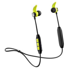 CX Sport In-Ear Wireless Headphones with Three-Button Remote and Microphone (Black/Yellow)