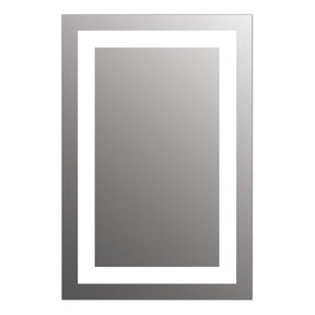 """Allegro 24"""" x 36"""" LED Lighted Bathroom Wall Mounted Dimmable Mirror"""