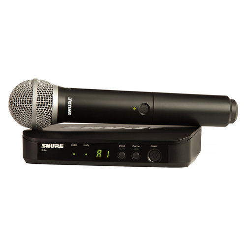 View Larger Image of BLX24/PG58-H10 Wireless Handheld Dynamic Microphone System
