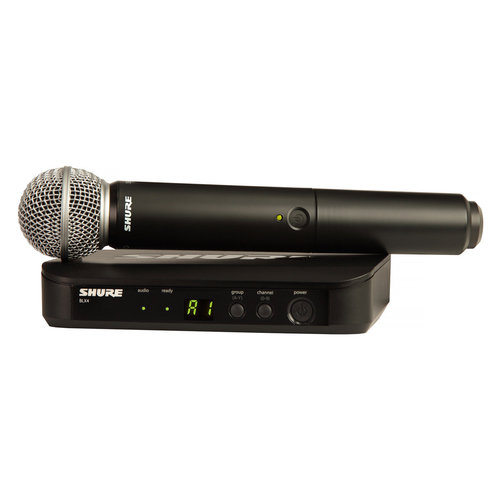 View Larger Image of BLX24/SM58-H10 Wireless Handheld Dynamic Microphone System