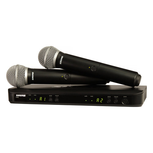 View Larger Image of BLX288/PG58-J10 Dual Channel Wireless Handheld Dynamic Microphone System