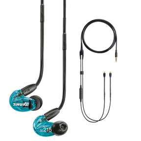 SE215 Sound-Isolating In-Ear Headphones with RMCE-UNI Remote and Mic Cable for SE Earphones