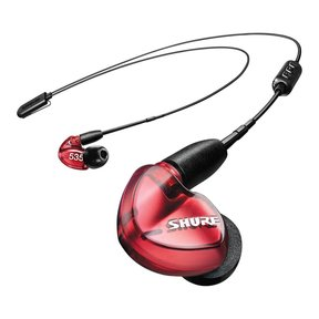 SE535 Sound-Isolating Earbuds with RMCE-BT2 Bluetooth Cable (Red)