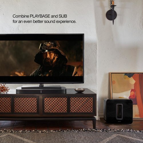 View Larger Image of 3.1 Home Theater Entertainment Set with PLAYBASE Wireless Sound Base and SUB Wireless Subwoofer