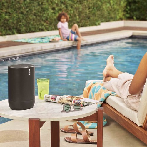 View Larger Image of 5.1 Beam Surround Set with Move Smart Speaker for Outdoor (Black)