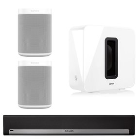 5.1 Home Theater Surround Set with Sonos One Voice-Controlled Smart Speakers, PLAYBAR Wireless Sound Bar, & SUB Wireless Subwoofer