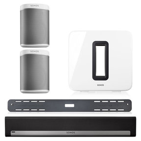 5.1 Home Theater Surround Set with Sonos Play:1 Wireless Smart Speakers, SUB Wireless Subwoofer, & PLAYBAR Wireless Sound Bar with Wall Mount Kit