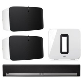 5.1 Home Theater Surround Set with Sonos Play:5 Wireless Smart Speakers, PLAYBAR Wireless Sound Bar, and SUB Wireless Subwoofer