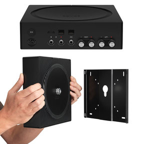Amp Wireless Hi-Fi Player with Flexson Wall Mount (Black)