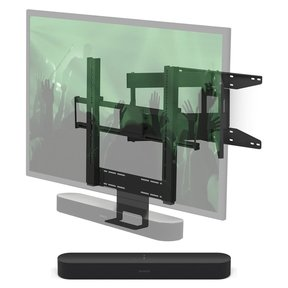 Beam Compact Smart Sound Bar with?Flexson Cantilever Mount (Black)