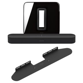 Beam Compact Smart Soundbar with SUB Wireless Subwoofer and Wall Mount
