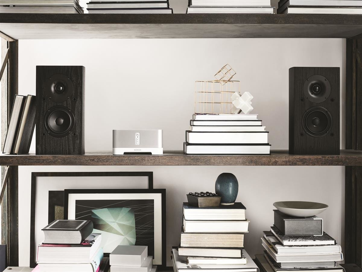 Sonos CONNECT:AMP Wireless Hi-Fi Player (White) with Klipsch AW-650 ...