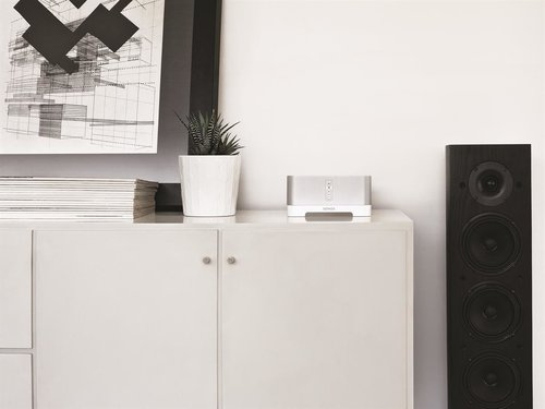 View Larger Image of CONNECT:AMP Wireless Hi-Fi Player (White) with Klipsch AWR-650-SM All Weather 2-Way Speaker - Pair