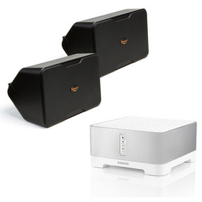 CONNECT:AMP Wireless Hi-Fi Player with Klipsch CP-6 Compact Performance Series Outdoor Loudspeakers - Pair