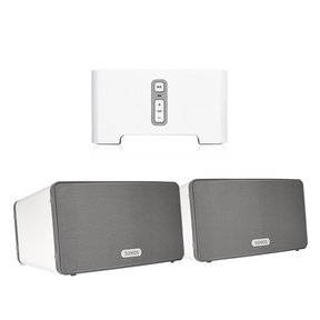 CONNECT Wireless HiFi Player with Sonos Play:3 All-In-One Wireless Music Streaming Speaker Pair