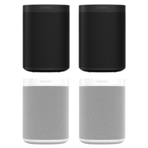 Four Room Set with Sonos One Gen 2 - Smart Speaker with Alexa Voice Control Built-In