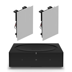 INWLLWW1 In-Wall Speaker Pair with Amp Wireless Hi-Fi Player
