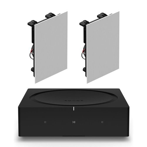 View Larger Image of INWLLWW1 In-Wall Speaker Pair with Amp Wireless Hi-Fi Player