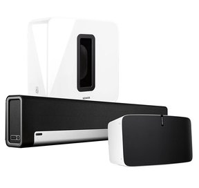 Entertainment Set with Sonos Play:5 Wireless Smart Speaker, PLAYBAR Wireless Sound Bar, & SUB Wireless Subwoofer
